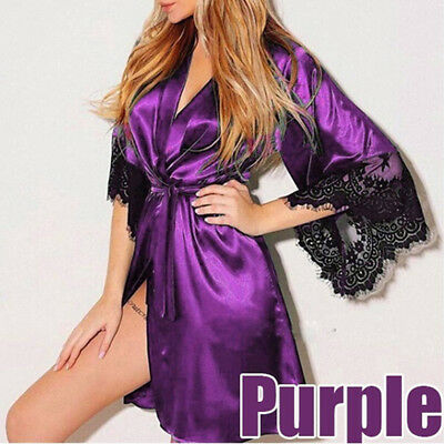 New Erotic Female Large Size Fashion Sexy Long Lace Robe Lingerie Nightgown CCB