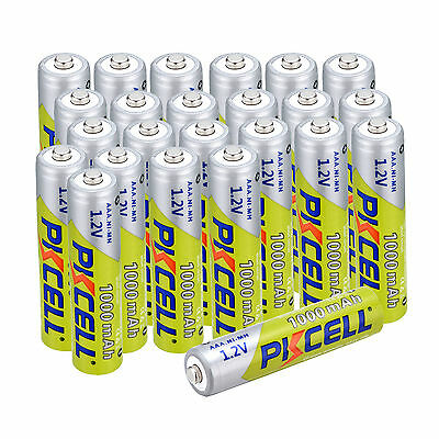 PKCELL Battery 3A / AAA 1.2V Ni-MH 1000mAh Rechargeable Batteries 1000 Cycles