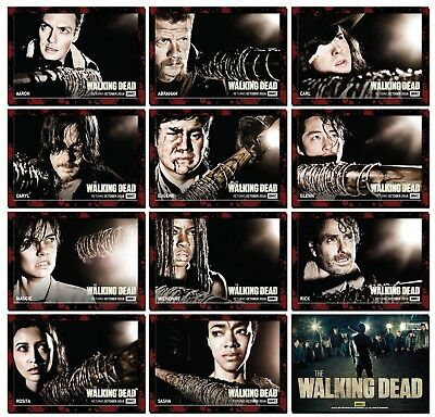 THE WALKING DEAD Season 7 - 11 Card Set - Who Will Face Lucille? Rick Daryl