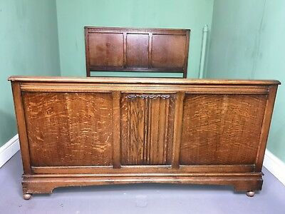 An Antique Old Charm Style Oak VONO Double Bed Frame ~Delivery Available~