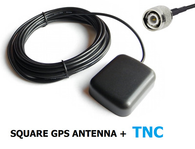 SQUARE GPS Antenna, TNC male connector, 3m cable / for navigation