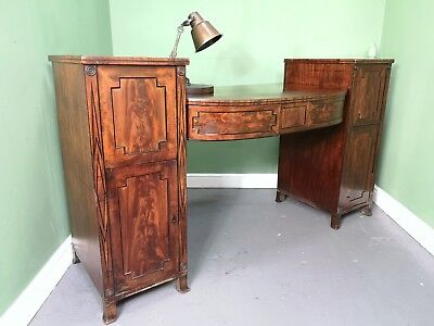 An Antique 19th Century Flame Mahogany Sideboard Desk ~Delivery Available~