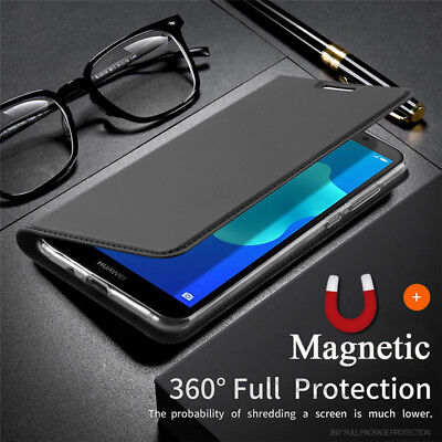 For Huawei Honor 7S 8X 8 9 10 Lite Magnetic Slim Flip Leather Wallet Case Cover