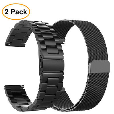 2PCS Band For Samsung Galaxy Watch 46mm / Gear S3 Frontier / Classic Strap Bands
