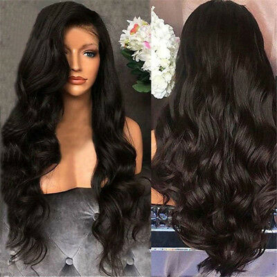 Fashion Black Curly Wig Glueless Full Lace Wigs Women Indian Remy Human Hair