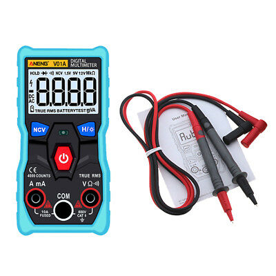 True-RMS Digital Multimeter 9999 Counts With Analog Bar Graph NCV AC/DC