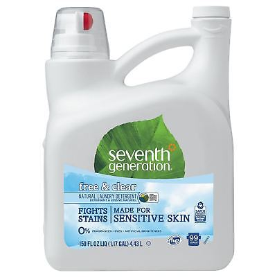 Seventh Generation Laundry Detergent Natural 2X Concentrate Free & Clear 150 oz