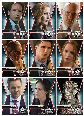 THE X-FILES - Season 10 - 10 Card Character Promo Set - Scully Mulder Skinner