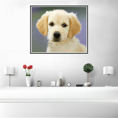 Golden Cute Dog Canvas Art Painting Unframed Poster Picture Wall Home Decor Gift
