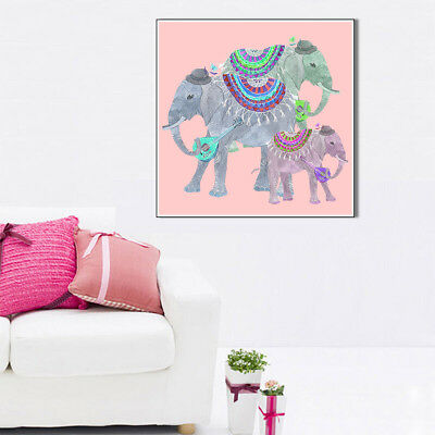 Thailand Elephant Canvas Art Painting Unframed Poster Picture Wall Home Decor
