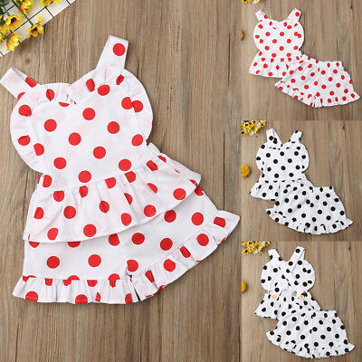 US 2pcs Newborn Toddler Infant Baby Girl Clothes T-shirt Tops+Pants Outfits Set