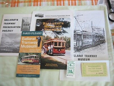 BALLARAT Heritage Tramways Book. Preservation Project Material. Flyers & Tickets