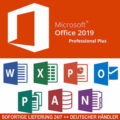 Microsoft Office 2019 Professional Plus Vollversion Original Business Pro