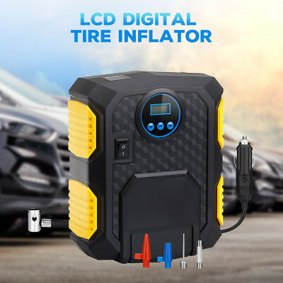 DC 12 Volt LCD Digital Tire Inflator Car Air Pump 150 PSI Compressor Pump Light