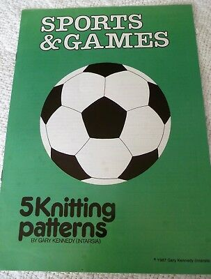 KNITTING PATTERN BOOKLET 'SPORTS & GAMES'  by GARY KENNEDY 5 designs
