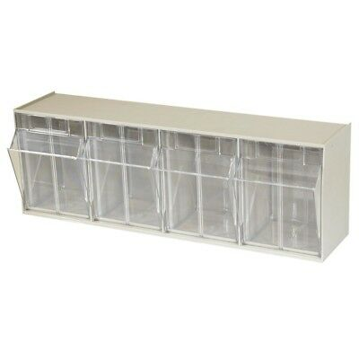 Cabinet 4-Compartment 25 lb. Capacity Small Parts Organizer Storage Bins