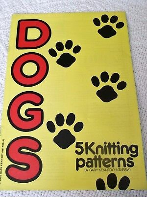 'DOGS'  KNITTING PATTERN BOOKLET  by GARY KENNEDY (INTARSIA) 5 patterns