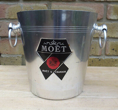 Ice Bucket - Champagne Ice Bucket - Champagne Cooler - Moët & Chandon Red Bow