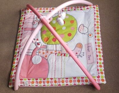 Hello Ernest Red Kite Pink Playmat Play gym Elephants Trees Giraffes