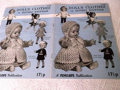 ORIGINAL, VINTAGE, PENELOPE,  KNITTING PATTERN, No. N56, DOLL'S CLOTHES