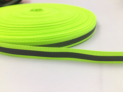DIY 5-10y 10MM Reflective Tape Strip Sew-On Fabric Trim Safty Vest 10mm NEW