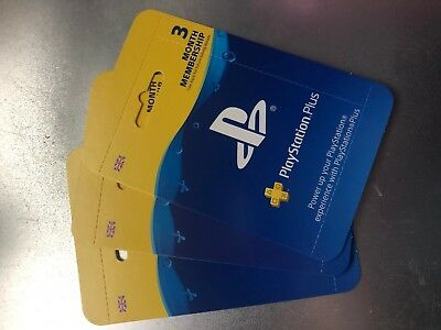 Playstation Plus 3 Month Membership Card - POST ONLY