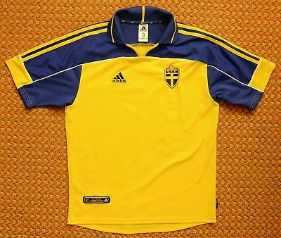 ADIDAS MEN S SWEDEN HOME soccer Jersey 2018 world cup SHIPS Priority ... 8f234170f