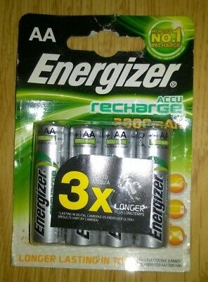 Energizer Recharge Power Plus AA Batteries NiMH 2000mAh HR6 MN1500 4Pack