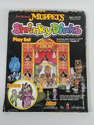 VINTAGE Jim Henson's MUPPET SHOW ShrinkyDinks by Colorform 1981. RARE! UNUSED!