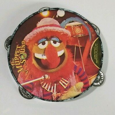 VINTAGE Jim Henson's Muppets DR. TEETH Tambourine by Noble and Cooley 1978!