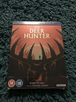 The Deer Hunter Blu Ray Steelbook Robert De Niro Action Uk Release Rare NEW