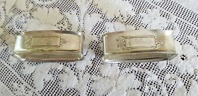 Antique Colonial Williamsburg Sterling Silver Napkin Rings