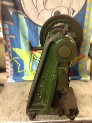 belt driven bench punch, meco mp201 .very old? very heavy 60kg+ good cond: