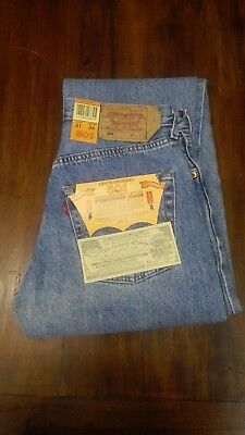 LEVI'S jeans LEVIS 501 blu classic denim Vintage style Tg. W31 L34 made in Spain