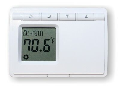 Non-Programmable Digital Thermostat For Radiant Floor Heating (Battery Operated)