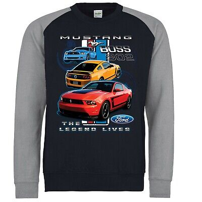 Ford Sweatshirt Mustang Boss 302 Shelby GT Genuine American Classic Car Clothing