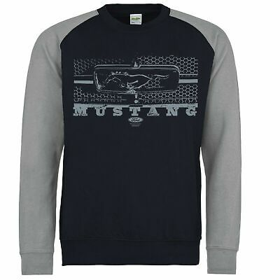 Licensed Genuine Ford Mustang Pony Grill Shelby Sweatshirt American Classic Car