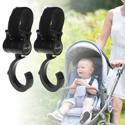 Baby Stroller Hook 360 Multifunctional Basket Strap Bag Hanger Grip Accessories