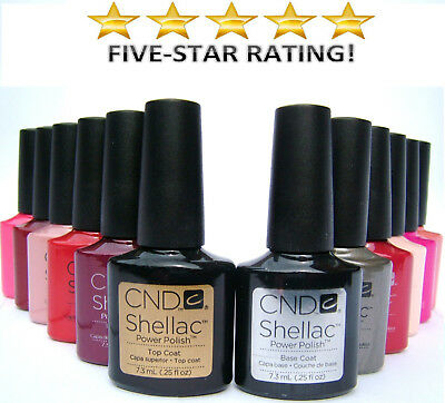 Cnd Shellac Uv Gel Nail Polish - Autumn And Winter Colours In Stock