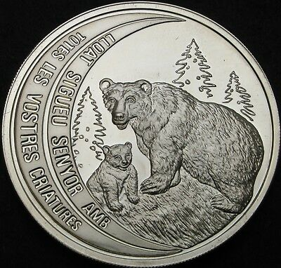 ANDORRA 10 Diners 1992 Proof - Silver - Brown Bear - 1925 ¤