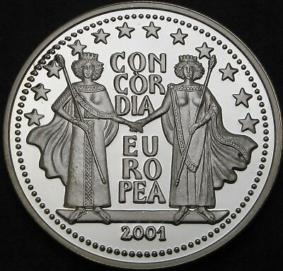 ANDORRA 10 Diners 2001 Proof - Silver - European Union - 1973 ¤