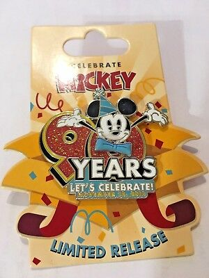 Disney Parks MICKEY MOUSE 90 Years Let's Celebrate Nov 18, 2018 Birthday LR Pin