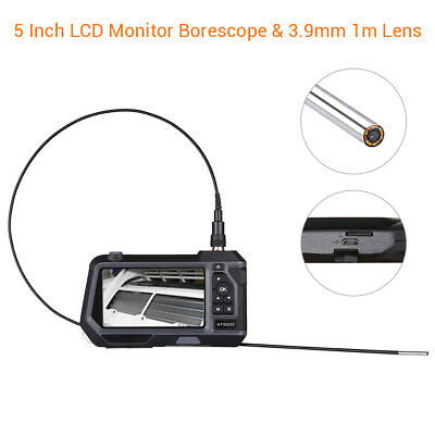 """NTS500 Dia 3.9mm 5.0"""" LCD 6LED Industrial Endoscope Snake Video Camera + 1M Tube"""