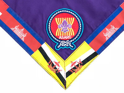 Asean Scouts Association For Regional Cooperation - Asarc Official Scout Scarf