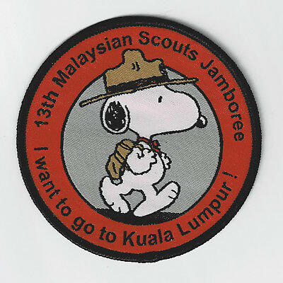 """2018 Malaysia Scout National Jamboree - Beagle Scouts Peanuts Snoopy """"kl"""" Patch"""