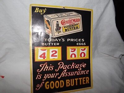 Vintage Country Maid Butter Sign
