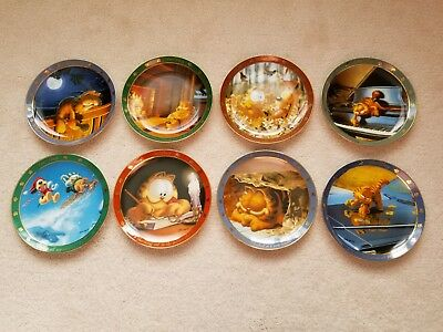 Set of 8 Garfield Collector Plates, Dear Diary Series