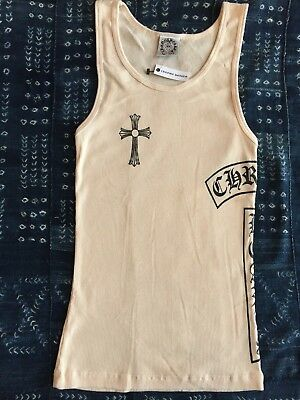 Authentic Chrome Hearts Woman's Ribbed Tank Top, Natural Color, New, V6