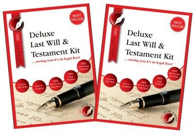 2 X DELUXE LAST WILL AND TESTAMENT KITS, 2019 Edition, BRAND NEW AND SEALED.