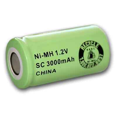 Exell 1.2V 3000mAh NiMH SubC Rechargeable Battery Flat Top Cell FAST USA SHIP